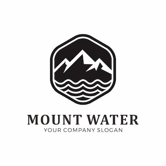 Mount and water logo design