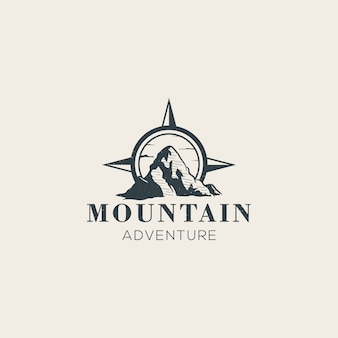 Mount with a compass logo template