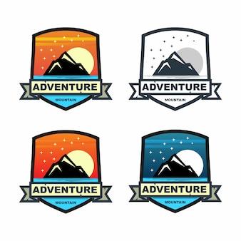 Mountain adventure badge set