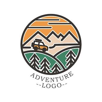 Mountain and adventure illustration