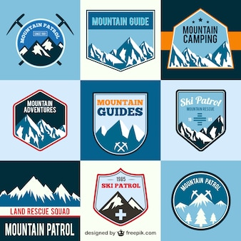 Mountain adventure labels