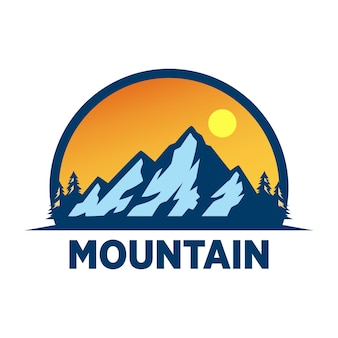 Mountain adventure logo design