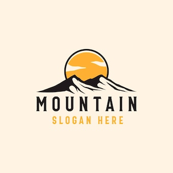 Mountain adventure and outdoor vintage logo template.