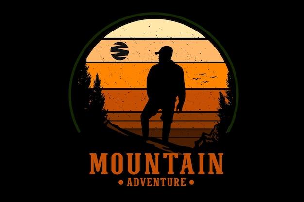 Mountain adventure silhouette design