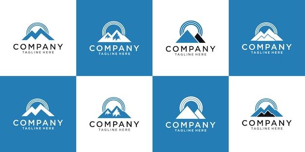 山と信号のロゴデザイン
