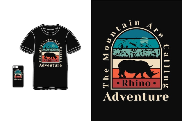 The mountain are calling t shirt design silhouette retro style