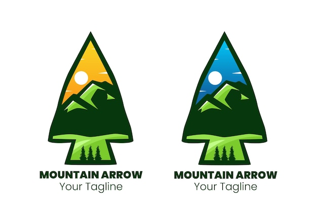 Дизайн логотипа горной стрелы