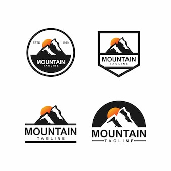 Mountain badge logo  bundle set