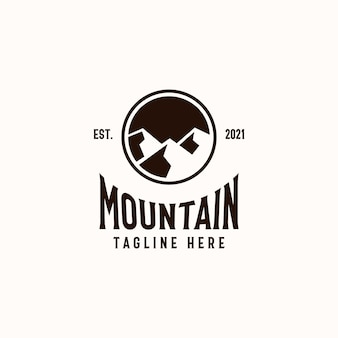 Mountain badge logo template isolated in white background