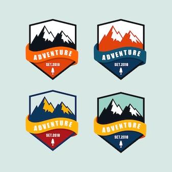 Mountain badge logo template