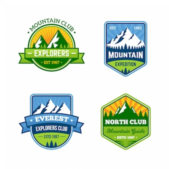 Mountain badges retro