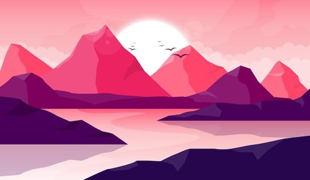 산 아름다운 풍경