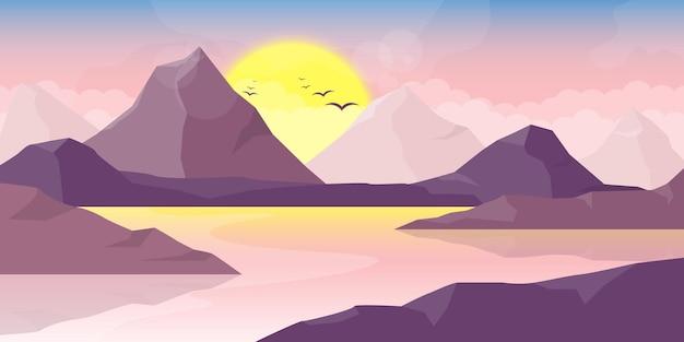 Горный красивый пейзаж