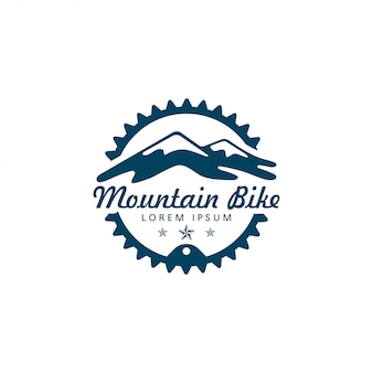 Mountain bike and gear or chain ring logo