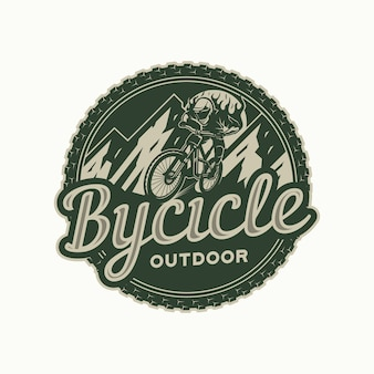 Mountain bike logo circle badge
