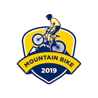 Mountain bike logo, down hill bike logo