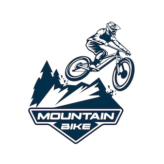 산악 자전거 로고