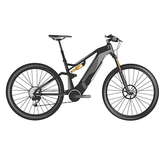 Mountain bike vector downhill extreme sport bicycle