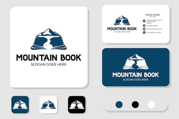 Mountain book logo design and business card