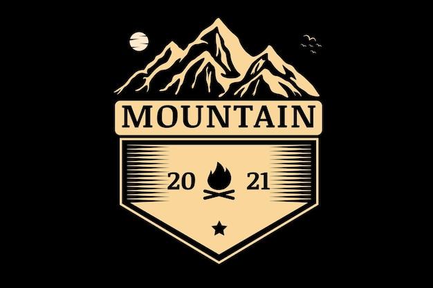 Mountain camp color cream
