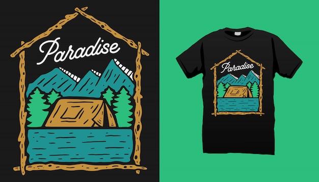 Mountain camping tshirt design