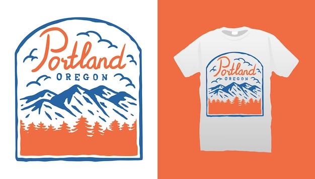 산 캠핑 tshirt 디자인