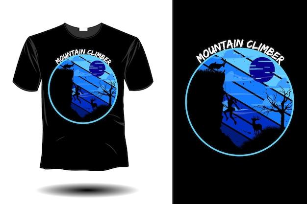 Mountain climber mockup retro vintage design