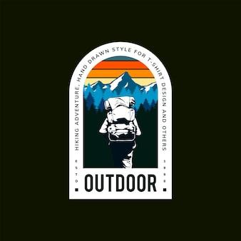 산악인 여행 삽화