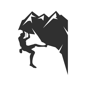 Mountain climbing logo