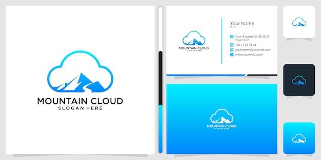 山の雲のロゴのデザインと名刺