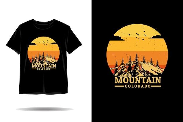 Mountain colorado silhouette tshirt design