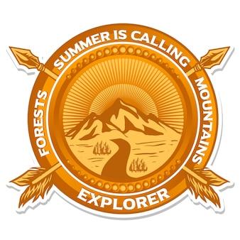 Mountain decorative emblem logo