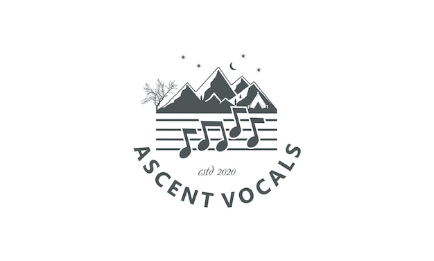 Горный дизайн и вокальные ноты