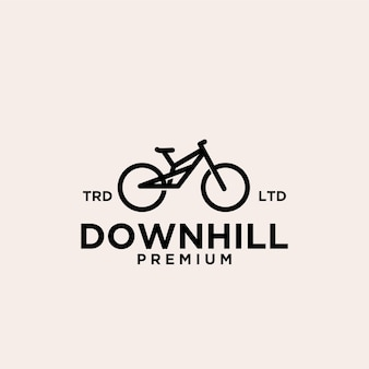 Mountain downhill bike vintage logo icon illustration