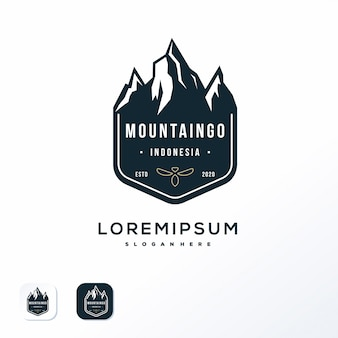 Mountain emblem logo design