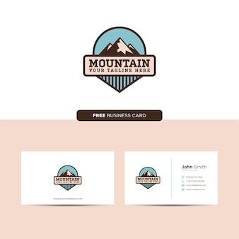 Mountain emblem logo retro and business card
