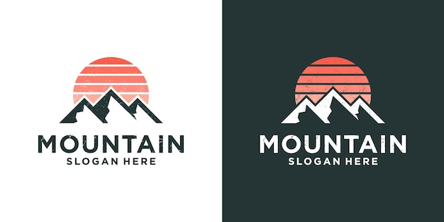 Mountain expedition adventure logo design
