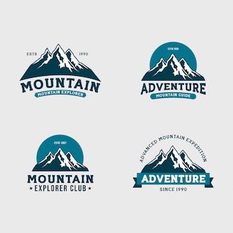 Mountain expedition logo set