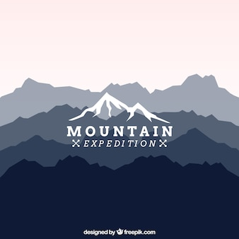Mountain expedition logo