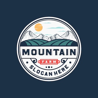 Логотип горной фермы