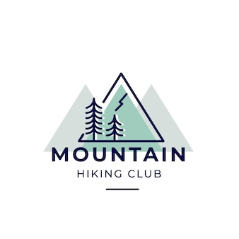 Mountain hiking club logo