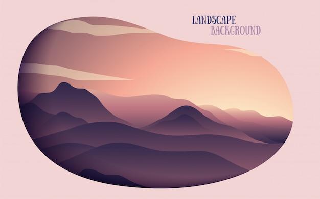 Mountain hill gradient landscape background
