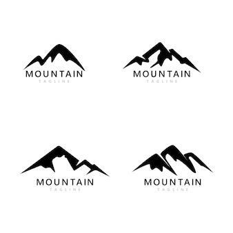 Mountain icon logo template vector illustration design