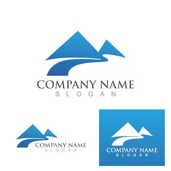 Гора значок логотипа шаблон векторные иллюстрации дизайн