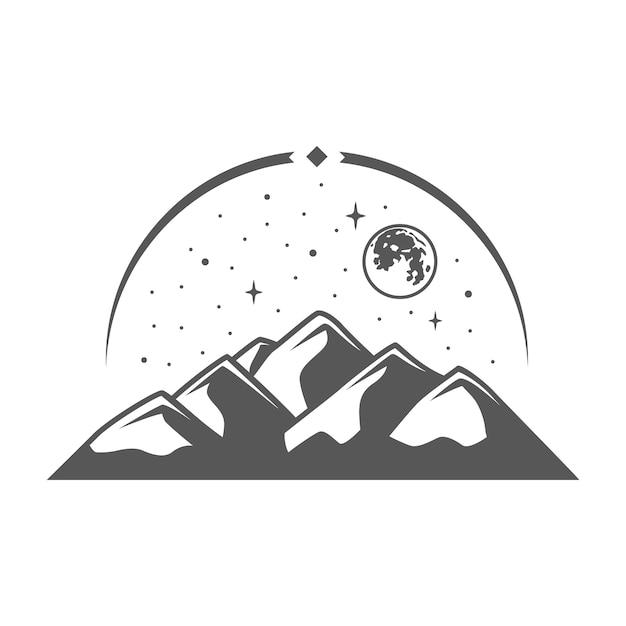 Mountain isolated on white background.