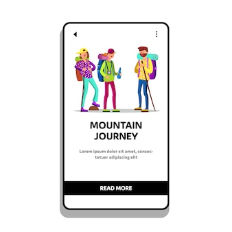Mountain journey and extreme adventure
