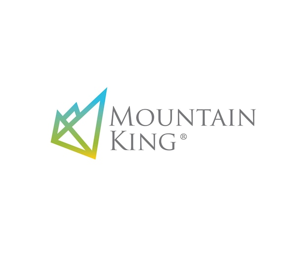 Mountain king m letter logo