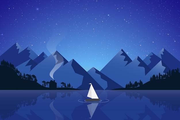 Отражение горного озера