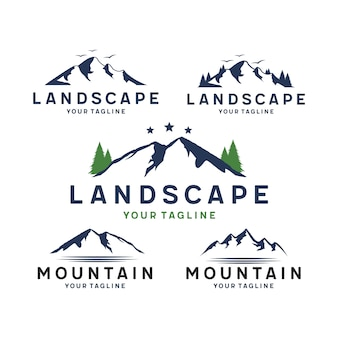 Mountain and landscape logo