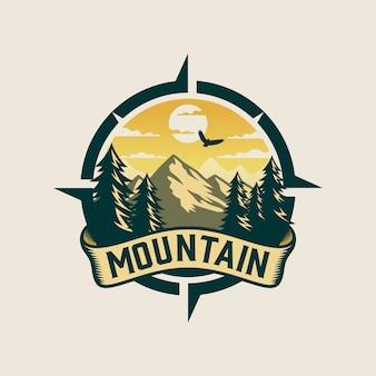 Mountain logo for adventure and outdoor logo design template